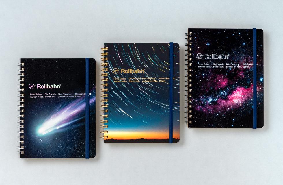 壮大な宇宙をテーマにしたロルバーン ポケット付メモ