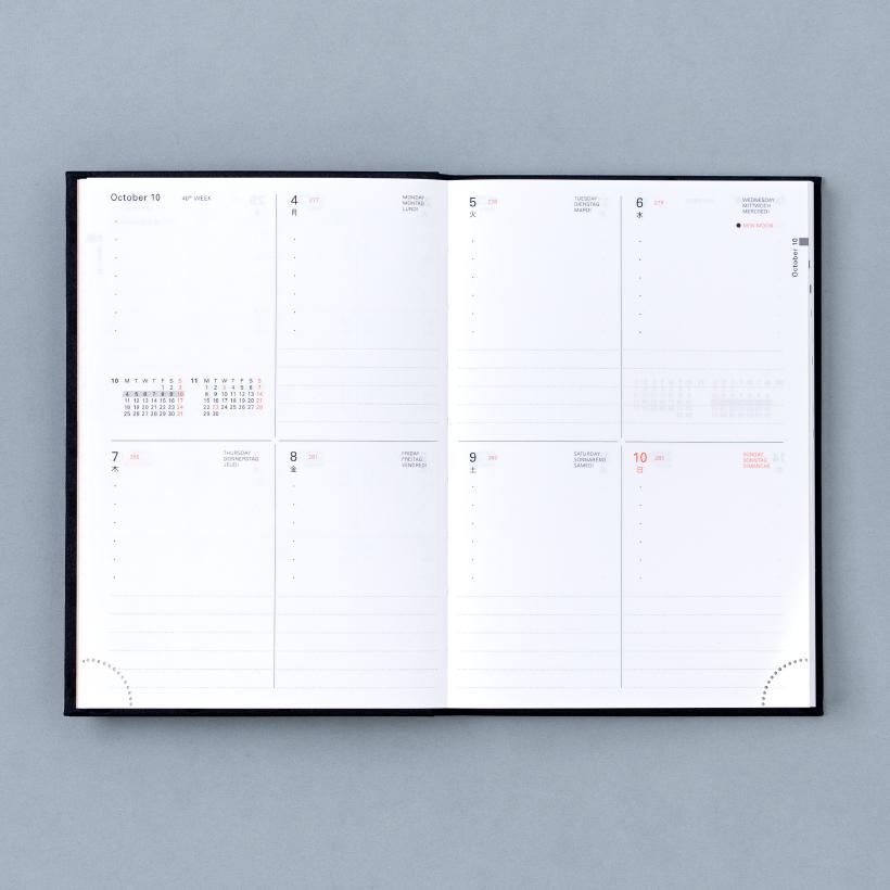 Delfonics Diary 2022 ウィークリー ブロック